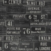 Mind The Gap Wallpaper  - Vintage Signs - Anthracite